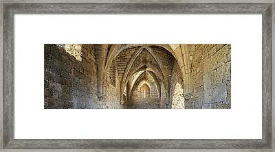 View Of Arches And Ceiling Of An Old Framed Print
