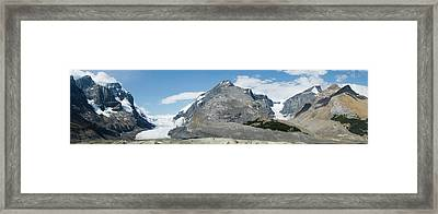 View Of Athabasca Glacier Framed Print by Panoramic Images