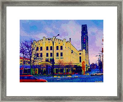 View Of Atwater Market Near Lachine Canal Lionel Groulx  Metro Montreal Urban Scenes Carole Spandau Framed Print