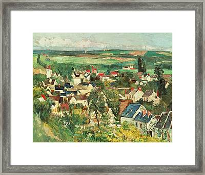 View Of Auvers From Above Framed Print by Paul Cezanne