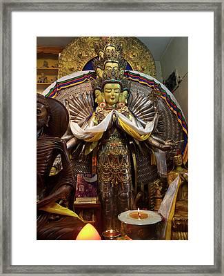 View Of Avalokiteshvara Bodhisattva Framed Print