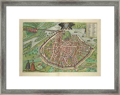View Of Avignon Framed Print by British Library