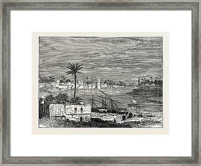 View Of Baghdad. Capital Of The Republic Of Iraq Framed Print