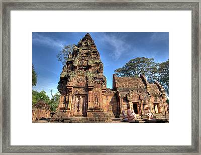 View Of Banteay Srei, Angkor, Siem Reap Framed Print