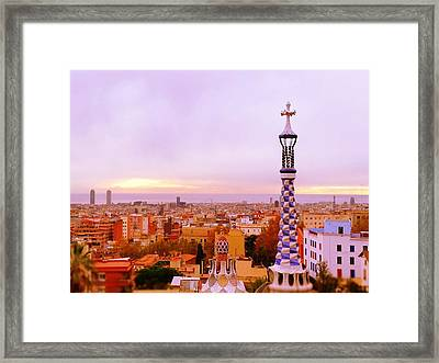 View Of Barcelona Framed Print by Maeve O Connell