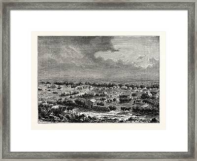 View Of Barkly, Or Klipdrift Framed Print by Litz Collection