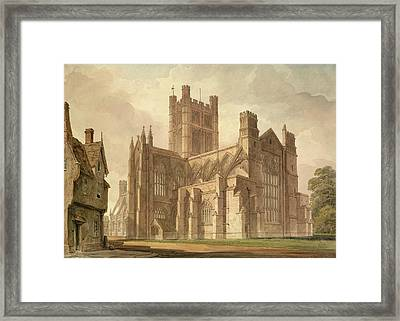 View Of Bath Abbey Framed Print by British Library