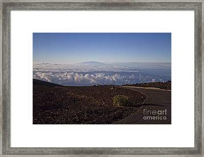 View Of Big Island - Hawaii From The Summit Of Haleakala Maui Hawaii Framed Print