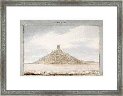 View Of Birs Nimrood Framed Print by British Library