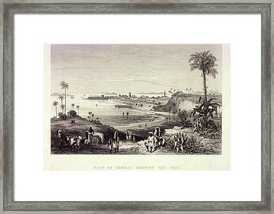 View Of Bombay Showing The Fort Framed Print by British Library