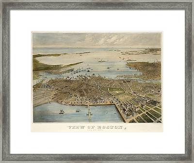 View Of Boston July 4th 1870 Framed Print