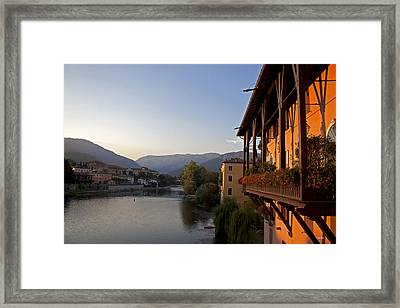 View Of Brenta River Framed Print by Ivete Basso Photography