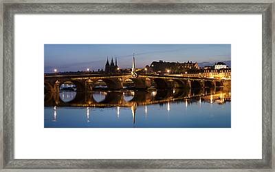 View Of Bridge On The Loire River Framed Print by Panoramic Images