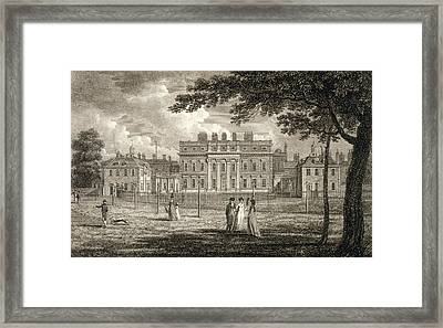 View Of Buckingham House, Engraved Framed Print by Edward Dayes