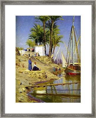 View Of Cairo Framed Print by Peder Mork Monsted
