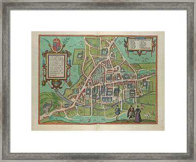 View Of Cambridge Framed Print by British Library