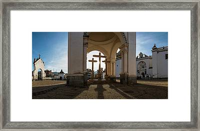 View Of Cathedral In City, Copacabana Framed Print