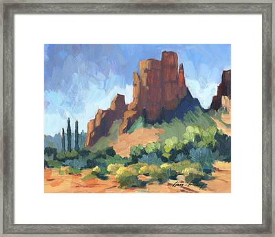 View Of Cathedral Rock Sedona Framed Print by Diane McClary
