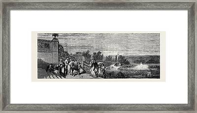 View Of Central Park, New York Framed Print by American School