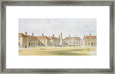 View Of Charles Hoptons Alms Houses, 1852 Wc On Paper Framed Print by Thomas Hosmer Shepherd