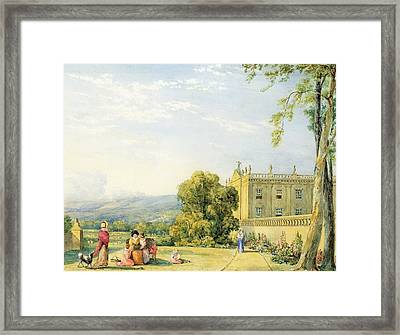 View Of Chatsworth, Derbyshire, C.1820 Framed Print by Frances Elizabeth Swinburne