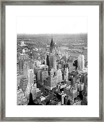 View Of Chrysler Building Framed Print by Underwood & Underwood