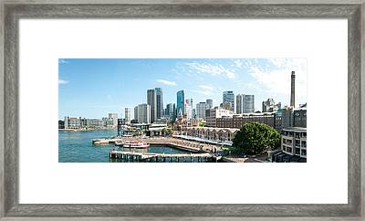 View Of Circular Quay And Downtown Framed Print
