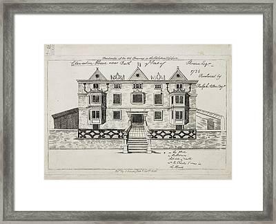 View Of Claverton House Near Bath Framed Print