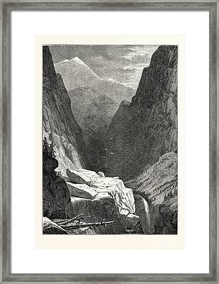 View Of Clear Creek Canyon, Colorado Framed Print by American School