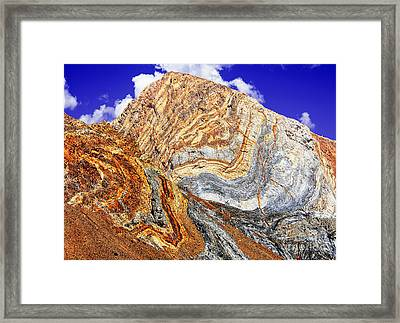 View Of Cliffs From Convict Lake Framed Print by Bob and Nadine Johnston