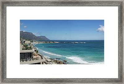 View Of Clifton Beach, Cape Town Framed Print
