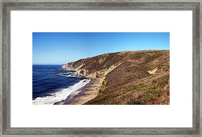 View Of Coastline, Point Reyes National Framed Print