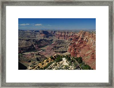 View Of Colorado River At Grand Canyon Framed Print by Robert  Moss
