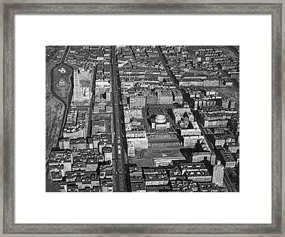 View Of Columbia University Framed Print by Underwood Archives