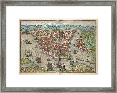 View Of Constantinople Framed Print by British Library