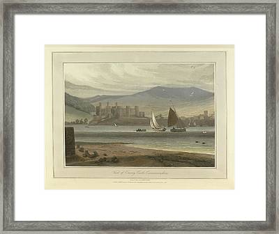 View Of Conwy Castle In Caernarvonshire Framed Print