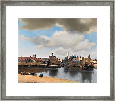 View Of Delft Framed Print by Johannes Vermeer