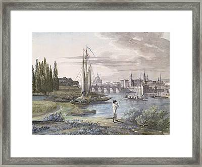 View Of Dresden And The River Elbe, 1806 Framed Print