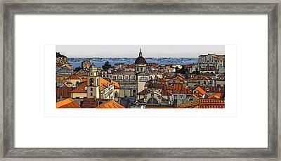 View Of Dubrovnik Framed Print