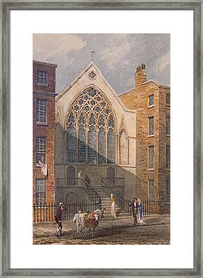 View Of Ely Chapel, 1815 Wc On Paper Framed Print by J. P. Neale