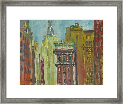 View Of Empire State 2 Framed Print by Edward Ching