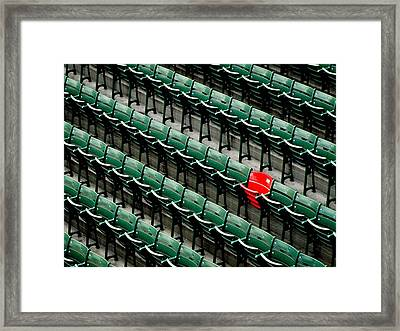 View Of Empty Chairs In Rows Framed Print by Abaseen Afghan / Eyeem