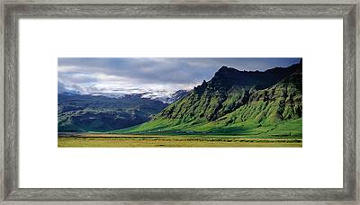 View Of Farm And Cliff In The South Framed Print by Panoramic Images