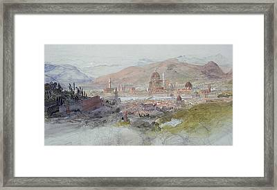 View Of Florence Framed Print by Samuel Palmer