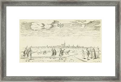 View Of Franeker 1598, Pieter Bast Framed Print by Pieter Bast