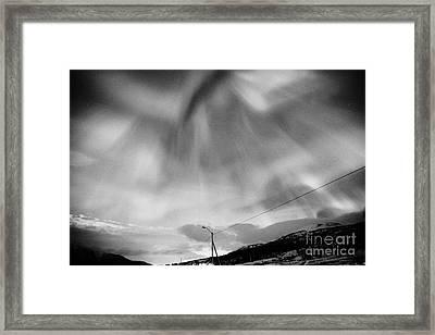 View Of Full Corona Northern Lights Aurora Borealis Near Tromso In Northern Norway Europe Framed Print