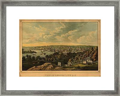 View Of Georgetown Washington D C Framed Print