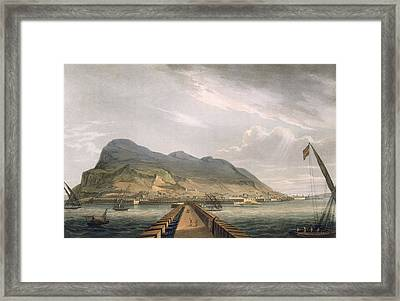 View Of Gibraltar Framed Print by Thomas Whitcombe