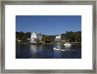 View Of Goodspeed Opera House In East Haddam  From The Connecticut Rive Framed Print