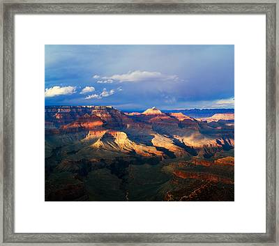 View Of Grand Canyon From Shoshone Framed Print